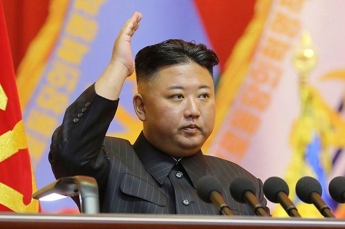 Een ongedateerde foto van de Koreaanse leider Kim Jong-un.