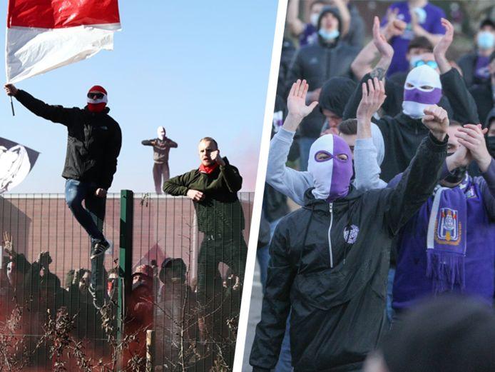 Les supporters du Standard et d'Anderlecht se sont notamment rassemblés en marge du Clasico ce dimanche, la Pro League appelle au respect des mesures sanitaires.