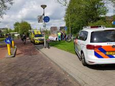 Brommer en fietser in botsing op fietspad Amersfoort