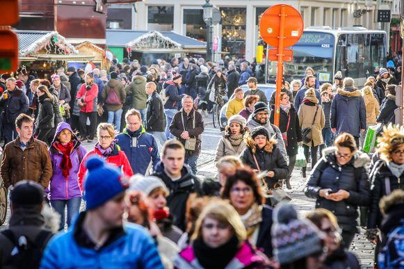 Kerstshopping in Brugge: nog vier weekends worden minstens zo druk.