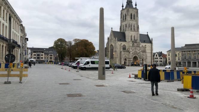 Als vanouds schaatsen op de Grote Markt in Tienen