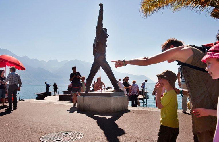 Standbeeld van Freddy Mercury in Montreux Beeld An-Sofie Kesteleyn