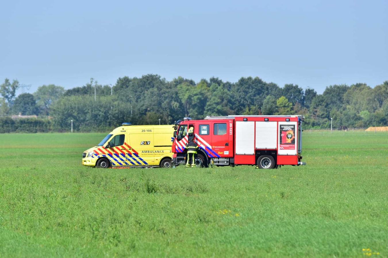 Parachutist gewond bij Zegge.