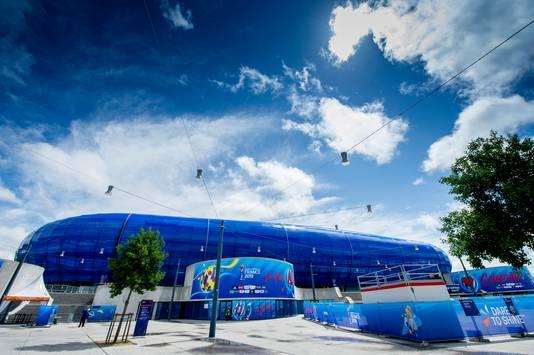 Stade Océan, waar de Leeuwinnen dinsdag hun eerste wedstrijd spelen in Le Havre.
