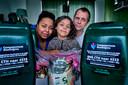 Rob Verdoorn met zijn vrouw en dochter.