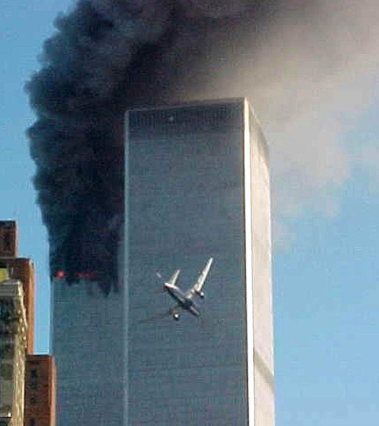 Aanslag op WTC-torens (Carmen Taylor, New York, 2001). Beeld AP