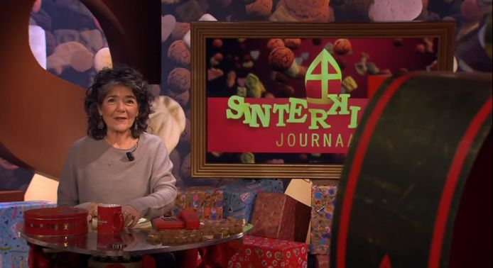 Presentatrice Dieuwertje Blok van het Sinterklaasjournaal.