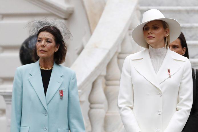 Prinses Caroline en prinses Charlene.