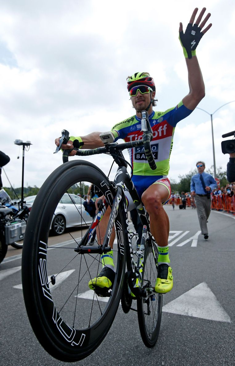 Sagan doet graag wheelies Beeld anp