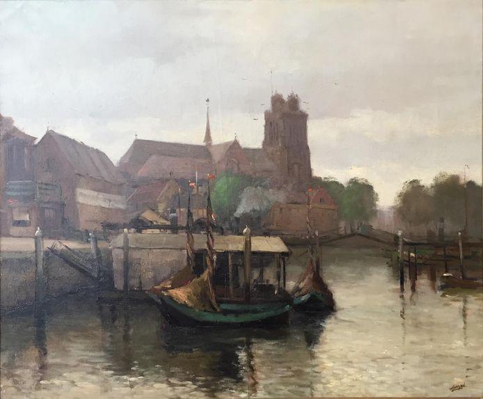 Het stadsgezicht op Dordrecht