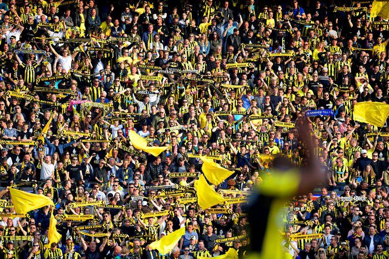 Vorig jaar won Vitesse in de Kuip de KNVB-beker. Het versloeg AZ met 2-0. Dit jaar is de finale op 22 april. Beeld ANP