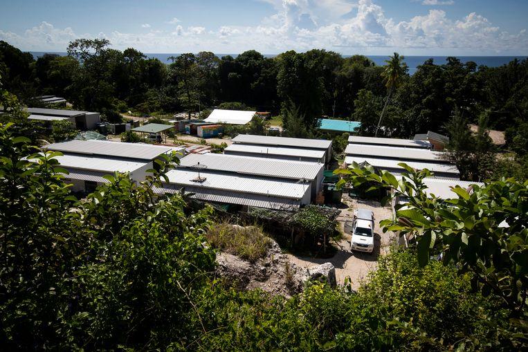 Australische asielzoekersopvang Nibok op Nauru. Beeld AP