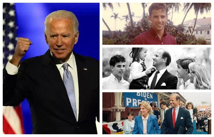 Joe Biden (78) door de jaren heen.