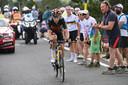 Wout van Aert op weg naar zijn zege in de etappe op Mont Ventoux.