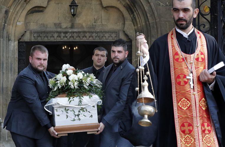 Marinova werd vandaag begraven.
