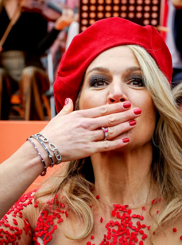 2018-04-27 13:36:27 GRONINGEN - Koningin Maxima tijdens Koningsdag 2018 in Groningen. ANP POOL ROYAL WESLEY DE WIT Beeld ANP