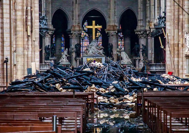 Op de achtergrond staan de beelden van Nicolas Coustou. Beeld AFP