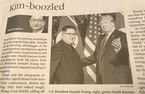 In Seoul zijn ze teleurgesteld in de top tussen de **VS** en **Noord-Korea**: 'Kim ging er met de hoofdprijs vandoor'