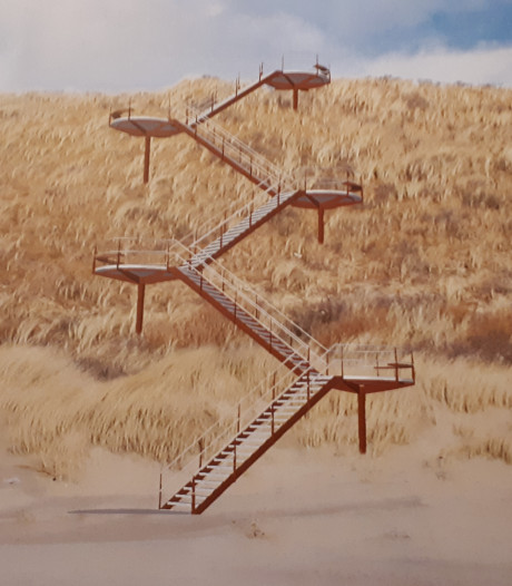 Veere aarzelt over nieuwe trap voor over de duinen
