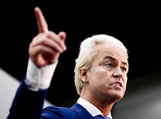 Geert Wilders tijdens zijn rechtszaak bij het gerechtshof.