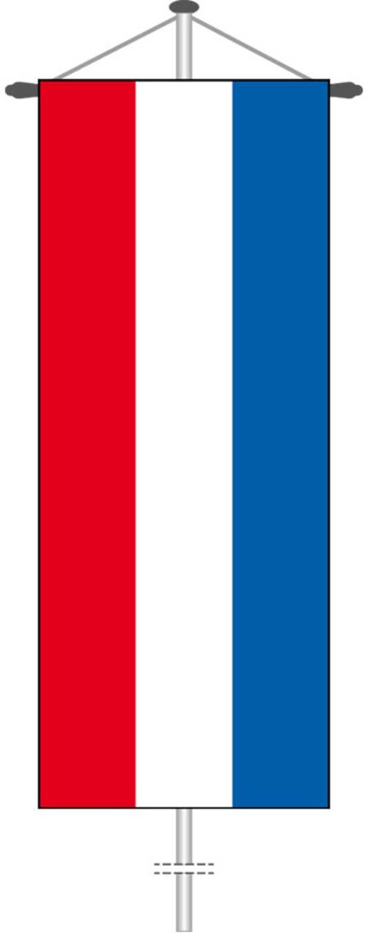 Om op Bevrijdingsdag ook de Nederlandse vlag hoog in de mast te kunnen hijsen, is Kreis Borken op zoek naar een 4 meter lange banniervlag zoals deze.