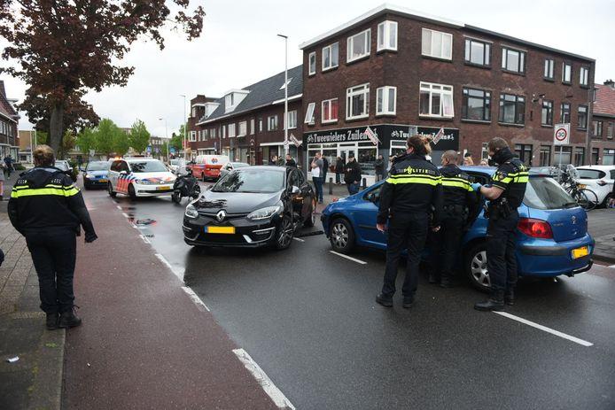Aanrijding op de Sweder van Zuylenweg in Utrecht.