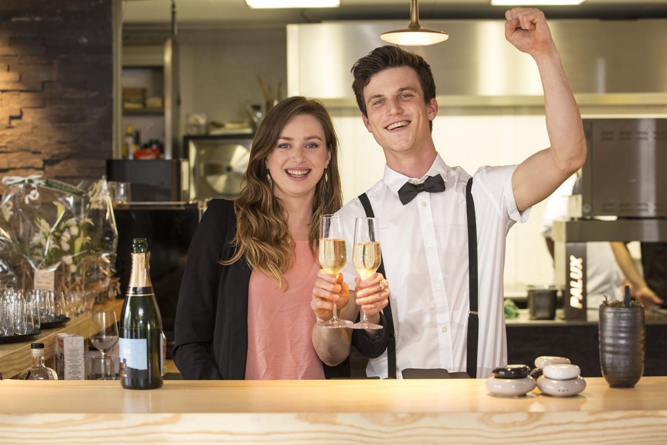 Hanne en Jaro's tijdelijke restaurant 'Sticks en Stones' stond al op het Brusselse Muntplein.