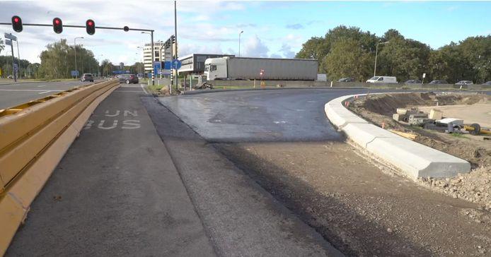 De nieuwe oprit naar de A1 vanuit Zutphen is bijna klaar.
