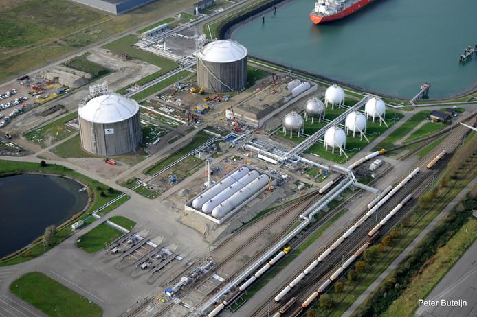 Vlissingen-terminal van Vopak waar lpg-wagons het spoor op gaan richting West-Brabant.