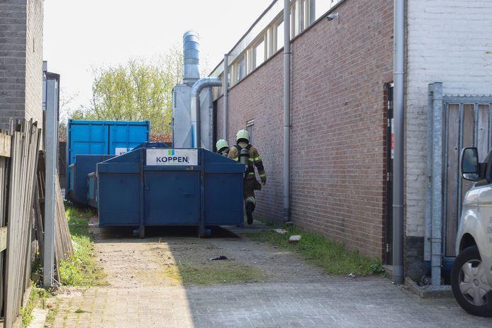 Brand bij een bedrijf in Liempde