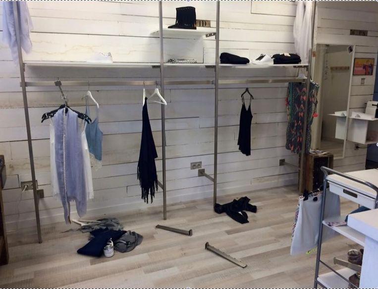 Inbrekers gingen aan de haal met bijna alle kledij van boetiek Bohemian.