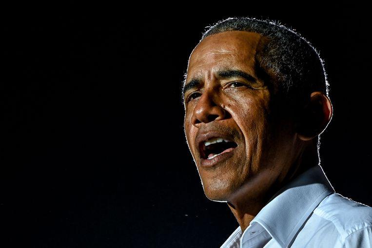 Voormalig Amerikaans president Barack Obama past voor een prominente rol in de nieuwe regering. Beeld AFP