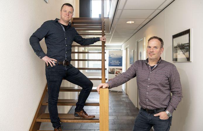 Ton Doppen (links) en Ronny te Plate zijn dit jaar toegetreden als directeur-eigenaar bij Porskamp Installatietechniek.