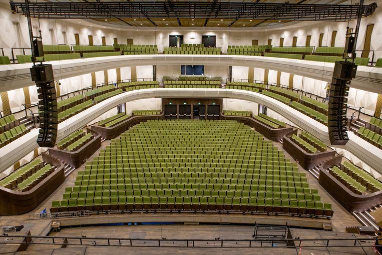 De Concertzaal van Amare vlak voor de ingebruikname. Beeld Pauline Niks