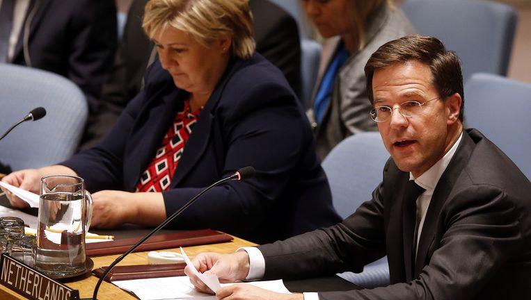 Rutte bij de VN-veiligheidsraad. Beeld ap