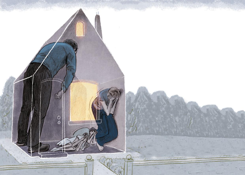 'Ik heb vaak in de vrieskou in mijn auto moeten slapen, omdat mijn man me had buitengesloten' Beeld Stijn Felix