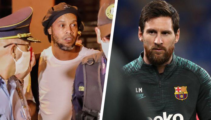 Ronaldinho et Messi.