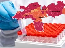 CORONAKAART   Fors meer nieuwe besmettingen in regio, Ede aan kop; óók het aantal ziekenhuisopnames gaat omhoog
