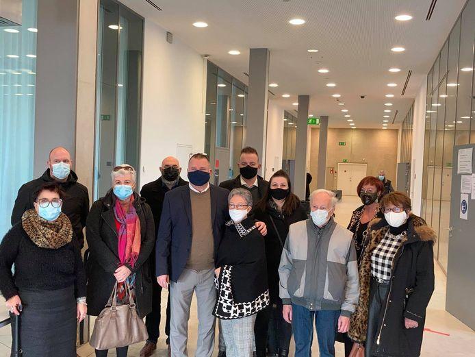Enkele van de slachtoffers in deze zaak in de Gentse rechtbank.
