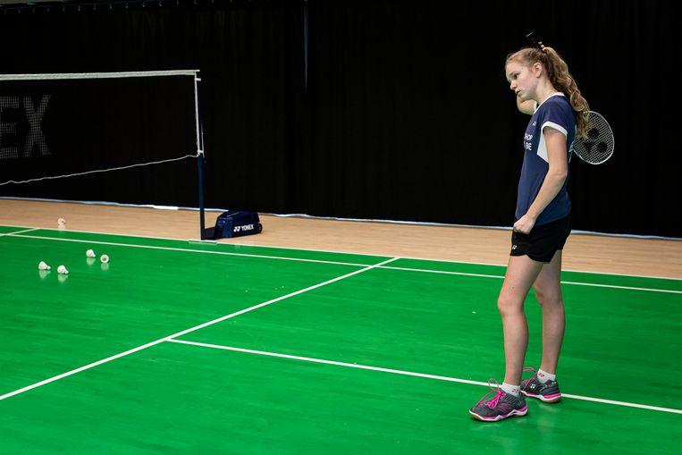 'Van badminton alleen kun je niet leven, tenzij je tot de wereldtop behoort. Daarom wil ik sowieso verder studeren.' Beeld SISKA VANDECASTEELEE