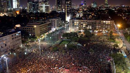 Duizenden mensen protesteren in Tel Aviv tegen geweld op vrouwen