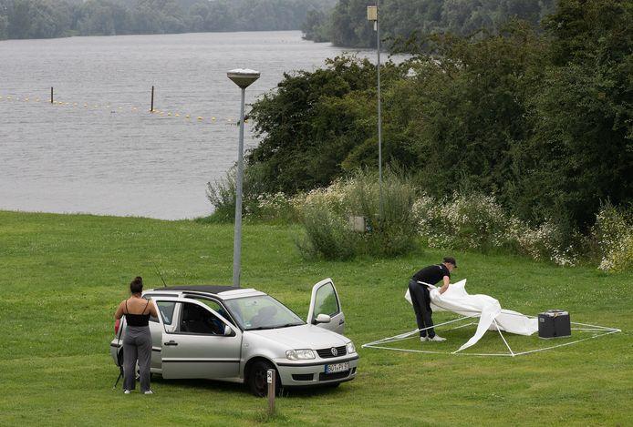 Eerder deze week moesten campinggasten in Doesburg hun spellen verplaatsen naar een veilige plek op de camping.