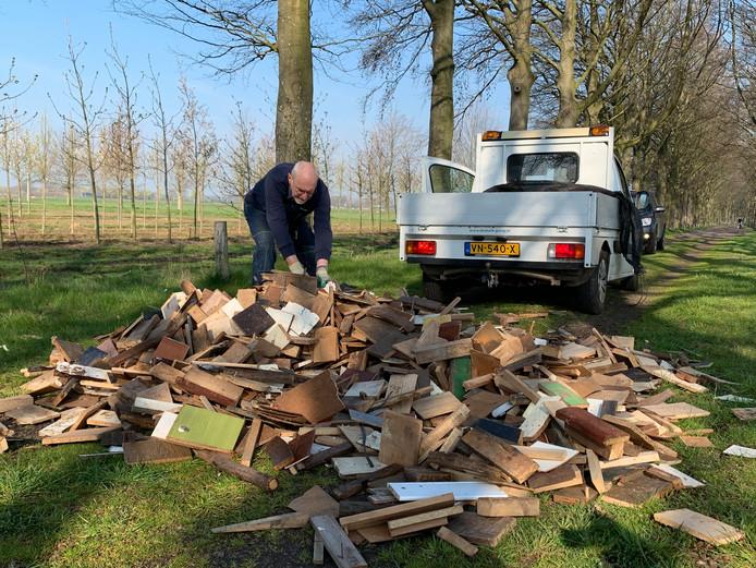 De dumping in Biezenmortel.