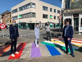Regenboogzebrapad als signaal tegen zinloos geweld, homofobie en transfobie