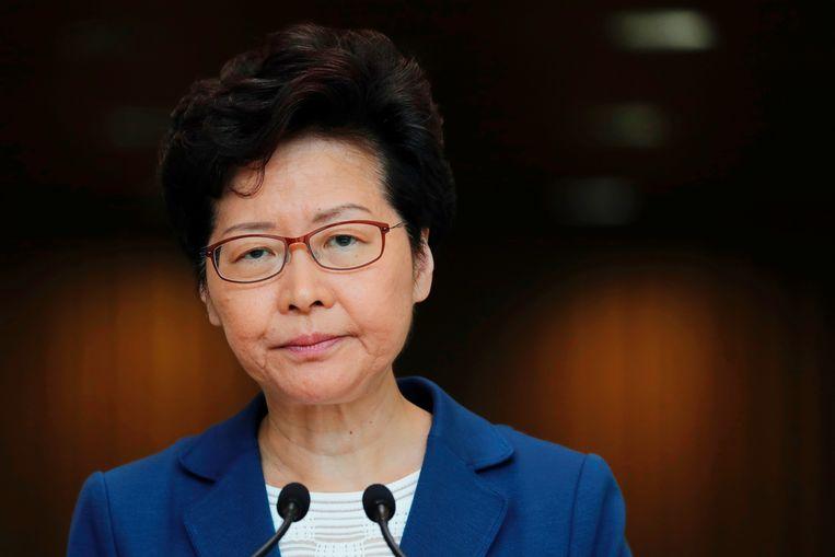 Carrie Lam, bestuursvoorzitter van Hongkong. Beeld REUTERS