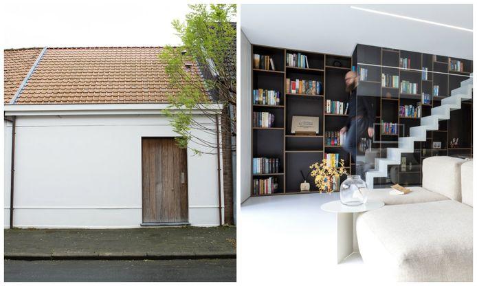 Aan de buitenkant verschilt het huisje niet zo veel in vergelijking met vroeger. De ramen verdwenen en de deur schoof op naar rechts.