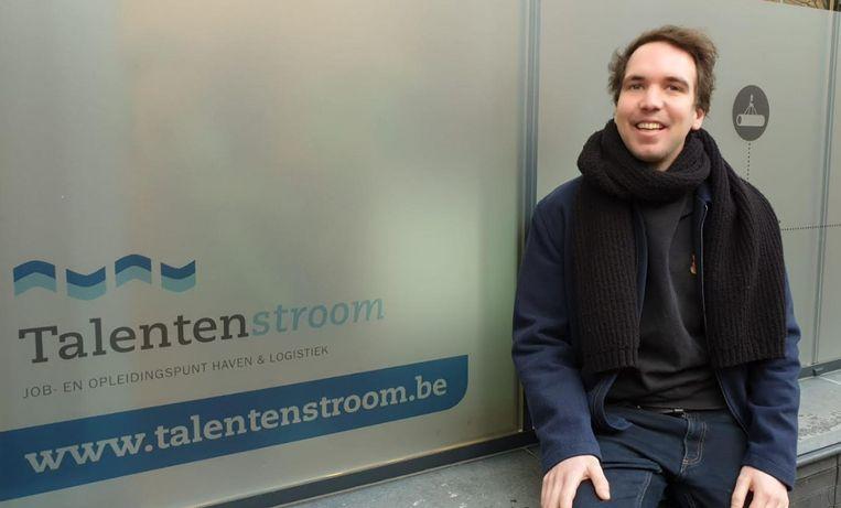 Jens Milbau van Talentenstroom zit mee achter de virtuele jobdate 'Talent in de Haven'.