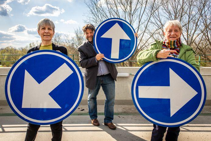 'Wegwijzers' Susanne van der Spiegel, Björn Siffer en Anjes Dierens.