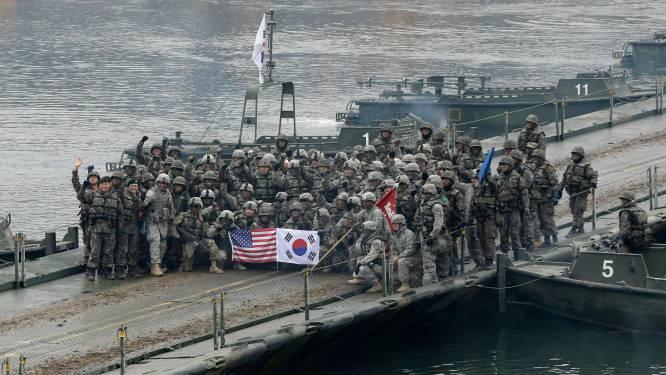 VS en Zuid-Korea starten met gezamenlijke militaire oefeningen