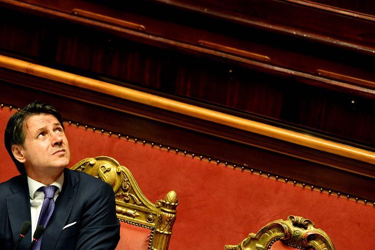Premier Giuseppe Conte Beeld AFP
